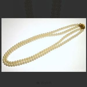 Jewelry - 14k Gold Double Strand Vintage Pearl Necklace
